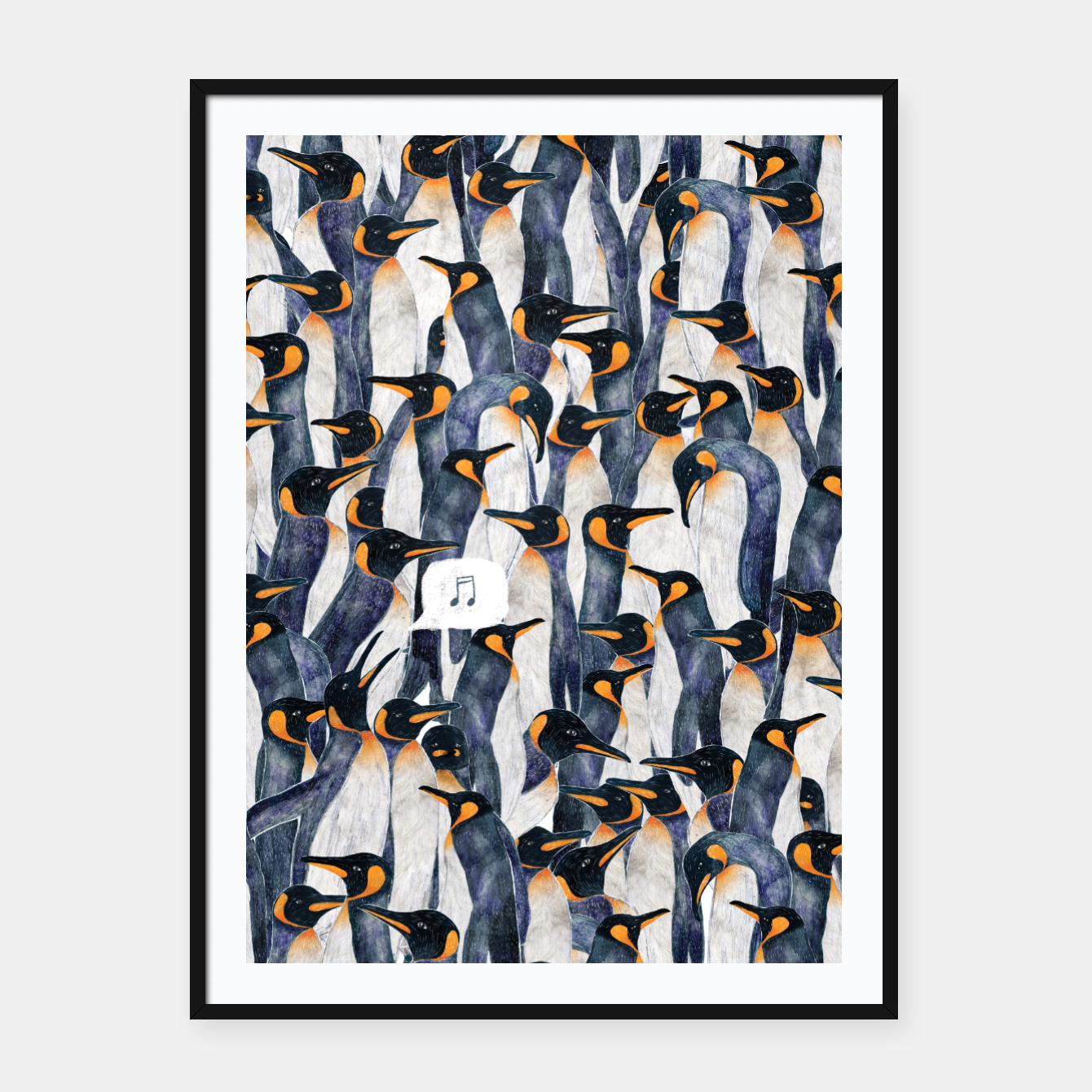 Image of Singing Penguin Framed poster - Live Heroes