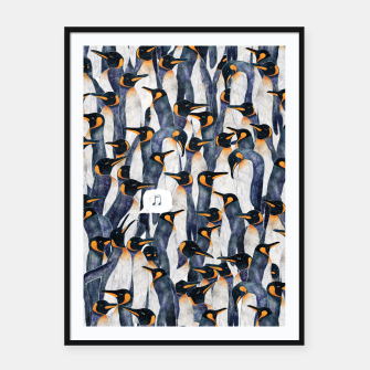 Thumbnail image of Singing Penguin Framed poster, Live Heroes