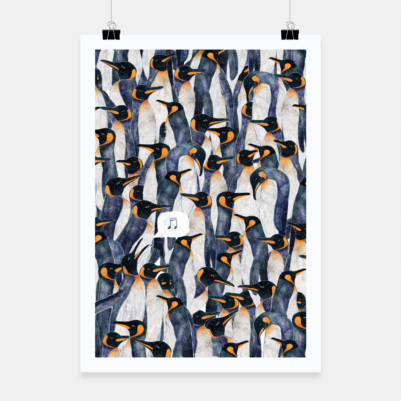 Image of Singing Penguin Poster - Live Heroes