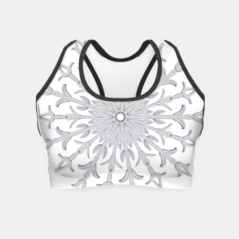 Miniatur White Christmas Crop Top, Live Heroes