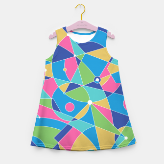 Thumbnail image of Abstract colours Girl's summer dress, Live Heroes