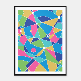 Thumbnail image of Abstract colours Framed poster, Live Heroes