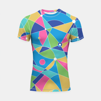 Thumbnail image of Abstract colours Shortsleeve rashguard, Live Heroes