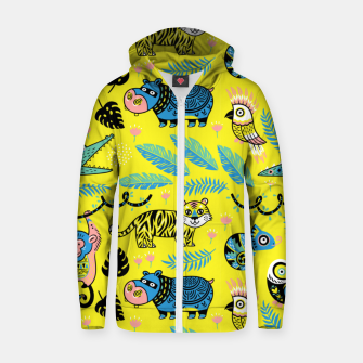 Miniature de image de Exotic Animals Zip up hoodie, Live Heroes