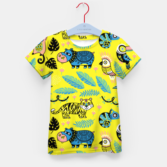 Thumbnail image of Exotic Animals Kid's t-shirt, Live Heroes