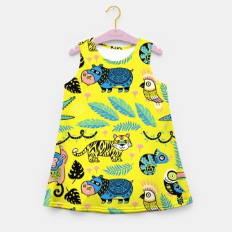 Miniature de image de Exotic Animals Girl's summer dress, Live Heroes