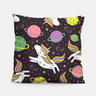 Thumbnail image of Unicorns in space Pillow, Live Heroes