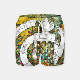 Miniaturka Thinking Girl Swim Shorts, Live Heroes
