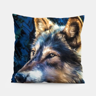 Thumbnail image of Wolf Art Pillow, Live Heroes