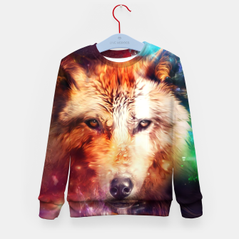 Thumbnail image of Abstract Wolf Kid's sweater, Live Heroes