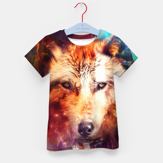 Thumbnail image of Abstract Wolf Kid's t-shirt, Live Heroes