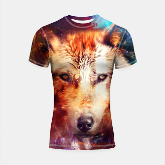Thumbnail image of Abstract Wolf Shortsleeve rashguard, Live Heroes