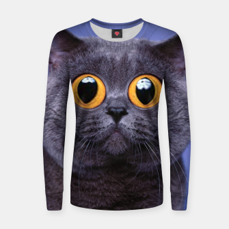 Thumbnail image of Humor Cat Women sweater, Live Heroes