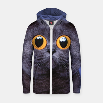 Thumbnail image of Humor Cat Zip up hoodie, Live Heroes