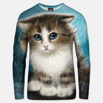 Raining Kitty Cat Unisex sweater Bild der Miniatur