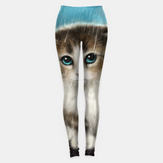 Raining Kitty Cat Leggings Bild der Miniatur