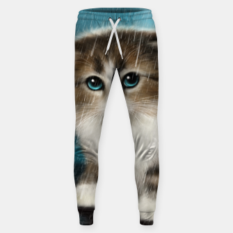 Raining Kitty Cat Sweatpants Bild der Miniatur