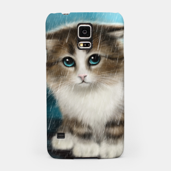 Raining Kitty Cat Samsung Case Bild der Miniatur