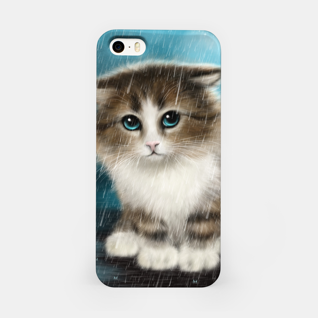 Foto Raining Kitty Cat iPhone Case - Live Heroes
