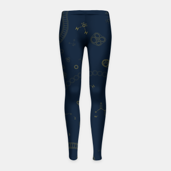 Thumbnail image of Cyanobacteria Science Girl's leggings, Live Heroes