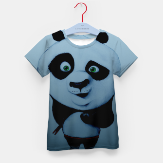 Thumbnail image of Confused Panda Kid's t-shirt, Live Heroes
