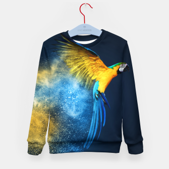 Thumbnail image of Blue & Yellow Macaw Kid's sweater, Live Heroes