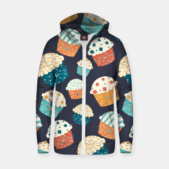 Thumbnail image of Cupcake Party Zip up hoodie, Live Heroes