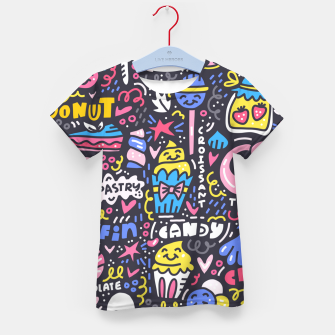 Thumbnail image of Dessert Universe Kid's t-shirt, Live Heroes