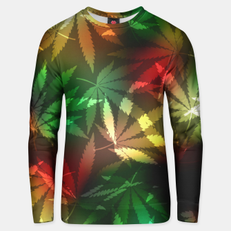 Thumbnail image of Colorful cannabis leaves Unisex sweater, Live Heroes