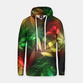 Thumbnail image of Colorful cannabis leaves Hoodie, Live Heroes