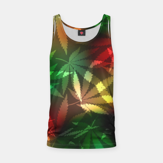 Thumbnail image of Colorful cannabis leaves Tank Top, Live Heroes