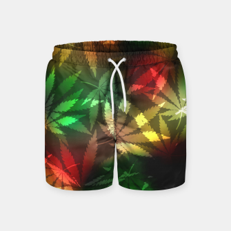 Thumbnail image of Colorful cannabis leaves Swim Shorts, Live Heroes