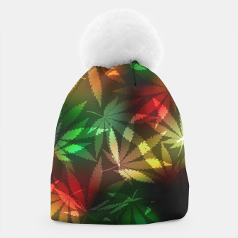 Thumbnail image of Colorful cannabis leaves Beanie, Live Heroes