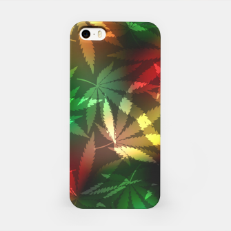 Thumbnail image of Colorful cannabis leaves iPhone Case, Live Heroes
