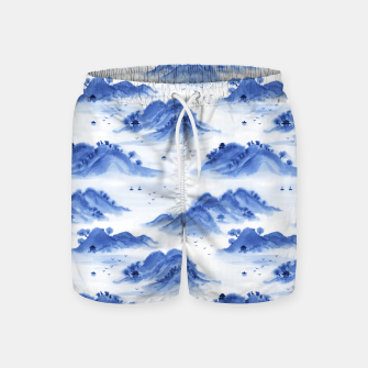 Thumbnail image of Morning in the Mountains Swim Shorts, Live Heroes