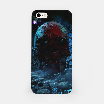 Miniatur No Moon Space Skull 3D-Illustration iPhone-Hülle, Live Heroes