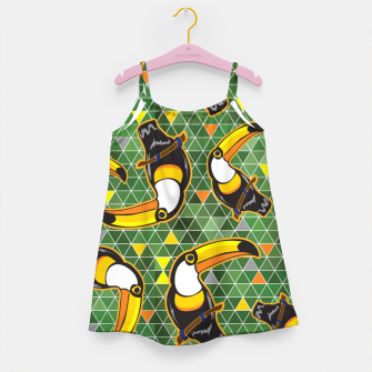 Thumbnail image of Abstract Tucan Girl's dress, Live Heroes