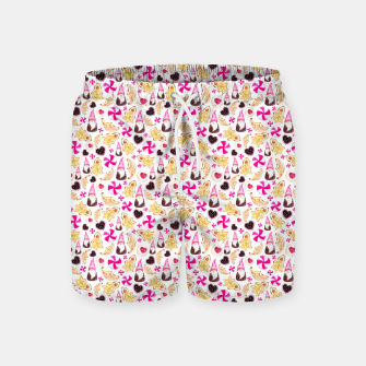Miniature de image de Sweet Christmas Treat- White Background Swim Shorts, Live Heroes