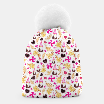 Miniature de image de Sweet Christmas Treat- White Background Beanie, Live Heroes