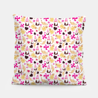 Miniature de image de Sweet Christmas Treat- White Background Pillow, Live Heroes