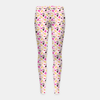 Miniature de image de Sweet Christmas Treat- White Background Girl's leggings, Live Heroes