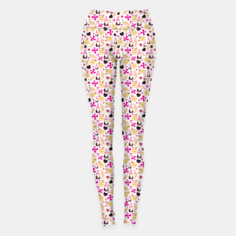 Miniature de image de Sweet Christmas Treat- White Background Leggings, Live Heroes
