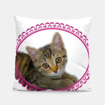 Thumbnail image of Kitten is dreaming Pillow, Live Heroes
