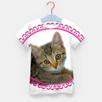 Thumbnail image of Kitten is dreaming Kid's t-shirt, Live Heroes