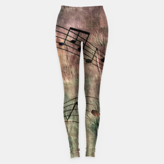 Miniaturka Abstract music 18A Leggings, Live Heroes