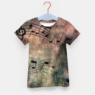 Miniaturka Abstract music 18A Kid's t-shirt, Live Heroes