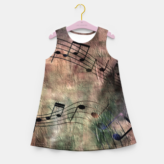 Miniaturka Abstract music 18A Girl's summer dress, Live Heroes