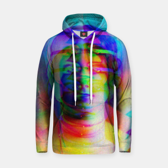 Thumbnail image of Glitch art colourful rainbow woman portrait Hoodie, Live Heroes