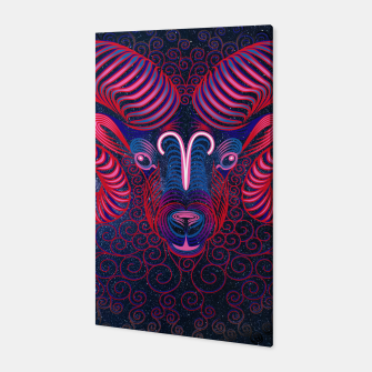 Thumbnail image of  Aries Zodiac Art Galaxy Fire Element  Canvas, Live Heroes