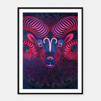 Thumbnail image of  Aries Zodiac Art Galaxy Fire Element  Framed poster, Live Heroes